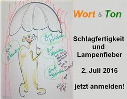 Schlagfertigkeit und Lampenfieber: unser nächster Workshop